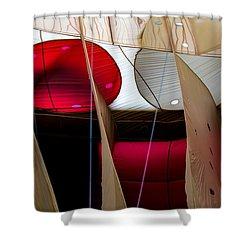 Circles Within Circles - Inside A Hot Air Balloon Shower Curtain