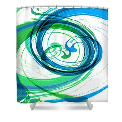 Circling Grace 1 Shower Curtain