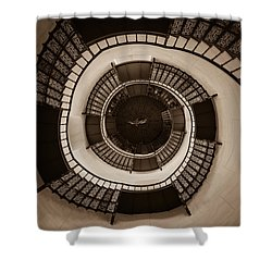 Circular Staircase In The Granitz Hunting Lodge Shower Curtain by Andreas Levi