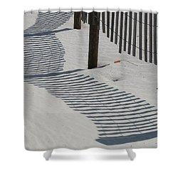 Circus Beach Fence Shower Curtain