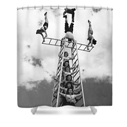 Circus Performers Practice Shower Curtain