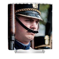 Citadel Cadet  Shower Curtain by Kathleen K Parker