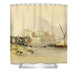 Citadel Of Sidon Shower Curtain by David Roberts