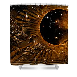 Cities In Flight Shower Curtain by Phil Sadler