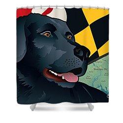 Maryland Black Lab Shower Curtain