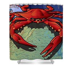 Citizen Crab Of Virginia Shower Curtain