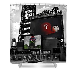 Citizens Bank Park Philadelphia Shower Curtain by Bill Cannon