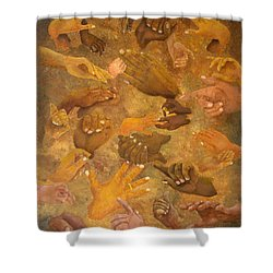Citizens Of Earth Shower Curtain by Pamela Allegretto