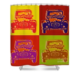 Citroen 2cv Shower Curtain by Jean luc Comperat