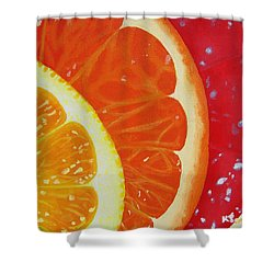 Citrus Hue Shower Curtain by Kayleigh Semeniuk