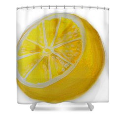 Shower Curtain featuring the painting Citrus by Marisela Mungia