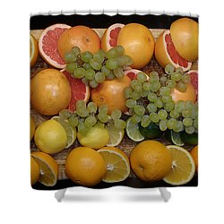 Citrus Shower Curtain by Michael Canning
