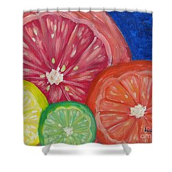 Citrus Slices Shower Curtain by Laurie Morgan
