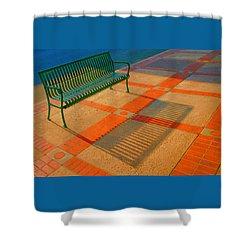 City Bench Still Life Shower Curtain by Ben and Raisa Gertsberg