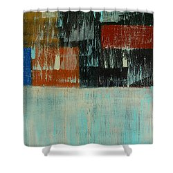 City Blocks Shower Curtain