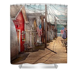 City - Canandaigua Ny - Shanty Town  Shower Curtain by Mike Savad