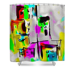 Shower Curtain featuring the digital art City by Frank Bright
