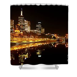 City Glow Shower Curtain by Andrew Paranavitana