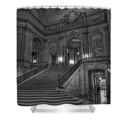 City Hall Grand Stairs Shower Curtain