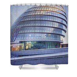 City Hall London Shower Curtain by Joan Carroll