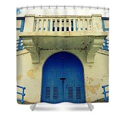 City Island Bath House Shower Curtain