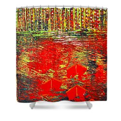 City Lights - Sold Shower Curtain by George Riney