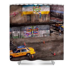 City - New York - Greenwich Village - Life's Color Shower Curtain by Mike Savad
