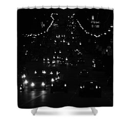 City Nights Shower Curtain by Empty Wall