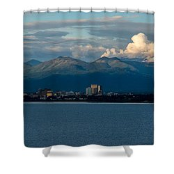 City Of Anchorage  Shower Curtain by Andrew Matwijec