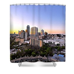 City Of Austin Texas Shower Curtain by Kristina Deane