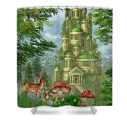 City Of Coins Shower Curtain by Ciro Marchetti