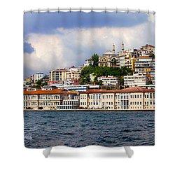 City Of Istanbul Cityscape Shower Curtain by Artur Bogacki