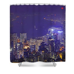 City Of Magic Shower Curtain by Midori Chan