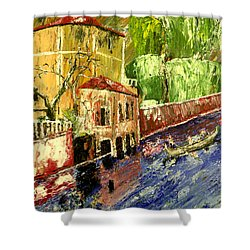 City Of Romance  Shower Curtain by Mark Moore