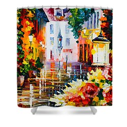 City Of Roses Shower Curtain by Leonid Afremov