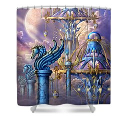 City Of Swords Shower Curtain by Ciro Marchetti