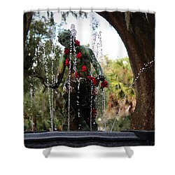 City Park Fountain Shower Curtain