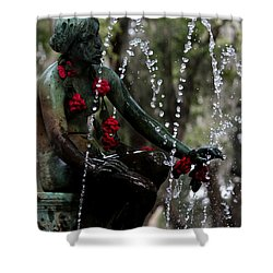 City Park Fountain II Shower Curtain