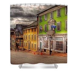 City - Providence Ri - Thomas Street Shower Curtain by Mike Savad