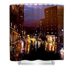 City Rain Shower Curtain by Mark Moore