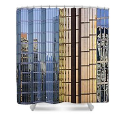 City Reflections Shower Curtain by Sandra Bronstein