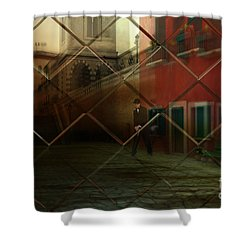 Shower Curtain featuring the digital art City Street by Liane Wright