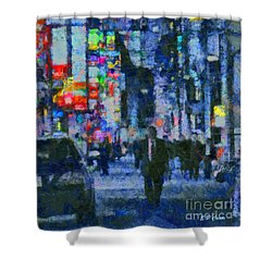 City Streets Shower Curtain by Elizabeth Coats