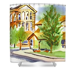 City Streets Shower Curtain by Kip DeVore