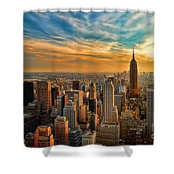 City Sunset New York City Usa Shower Curtain