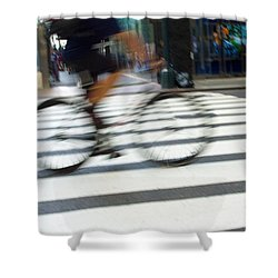 City Travels Shower Curtain by Karol Livote