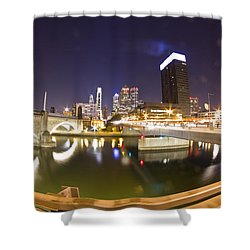 City's Reflection Shower Curtain