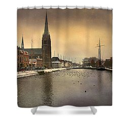 Cityscape Shower Curtain by Annie Snel