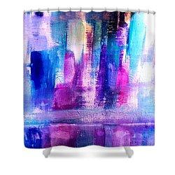 Cityscape Shower Curtain by Nikki Dalton