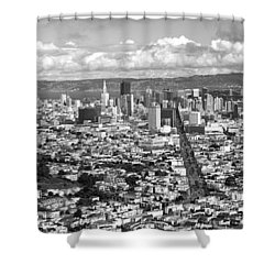 Cityscape Viewed From The Twin Peaks Shower Curtain